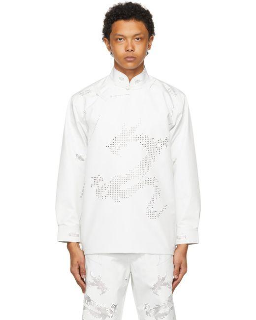 メンズ Xander Zhou ホワイト シャツ White