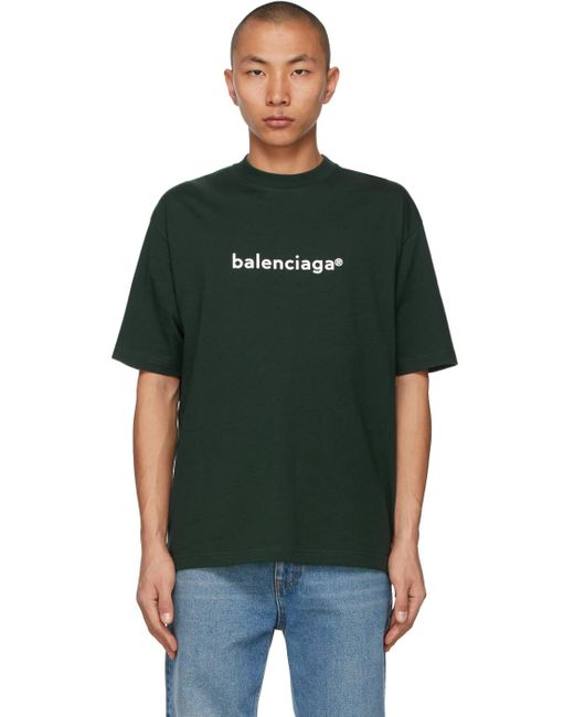 メンズ Balenciaga グリーン New Copyright ミディアム フィット T シャツ Green