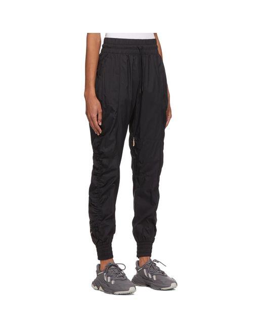 Adidas By Stella McCartney ブラック リサイクル リップストップ トラック パンツ Black