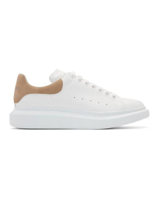 メンズ Alexander McQueen ホワイト And ベージュ オーバーサイズ スニーカー White