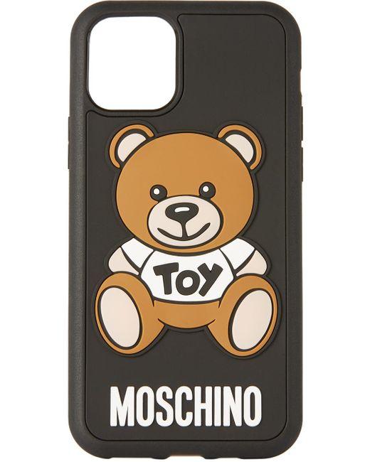 メンズ Moschino ブラック Teddy Bear Iphone 11 Pro ケース Black