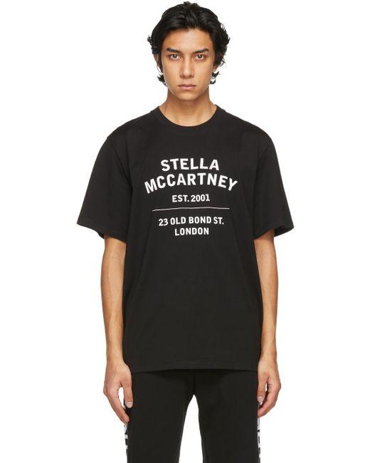メンズ Stella McCartney Shared コレクション ブラック オーガニック コットン 23 Obs T シャツ Black