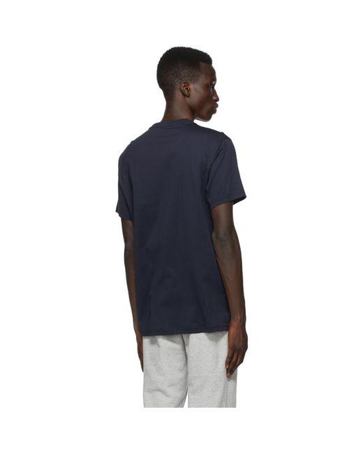 メンズ Burberry ネイビー Tb モノグラム New Parker T シャツ Blue