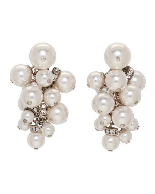 Lanvin | White Pearl Drop Earrings | Lyst