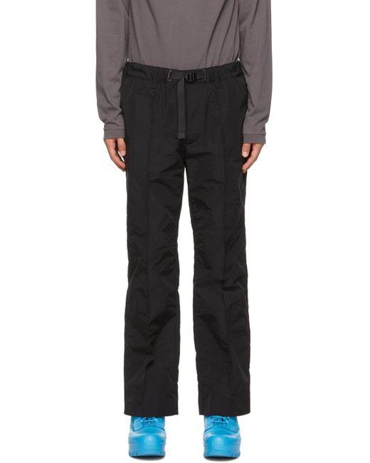 メンズ Ambush ブラック トラック パンツ Black