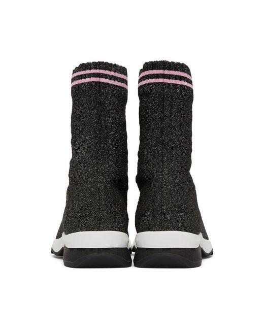 Black Lurex Sock High-Top Sneakers Fendi Big Discount Online RThuDNho