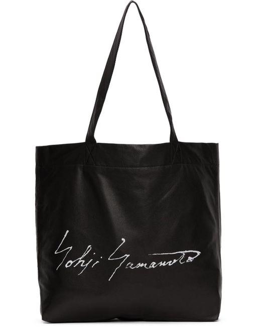 Yohji Yamamoto ブラック Discord ロゴ トート Black