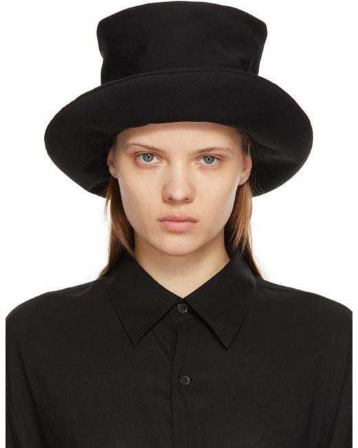 Yohji Yamamoto ブラック High Crown クロッシェ Black