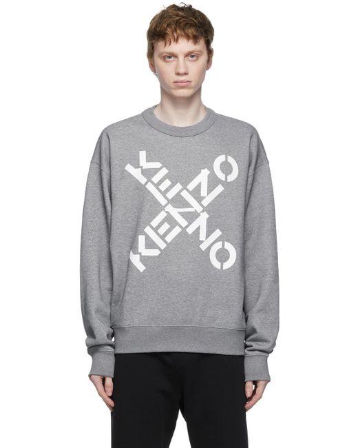 メンズ KENZO グレー Big X Sport スウェットシャツ Gray