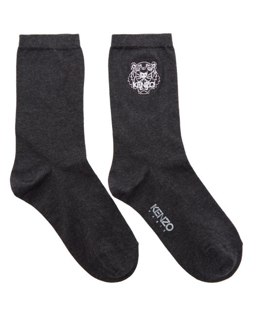 KENZO | Gray Grey Tiger Socks for Men | Lyst