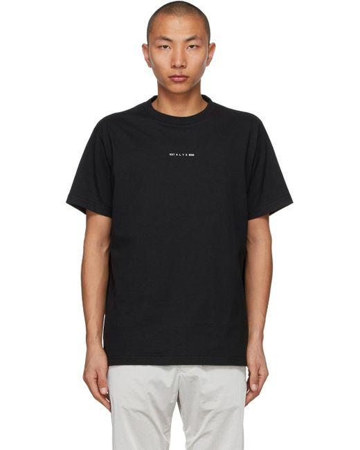 メンズ 1017 ALYX 9SM Visual ロゴ T シャツ Black