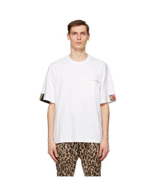 メンズ Sacai ホワイト T シャツ White