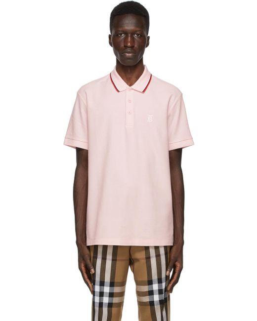 メンズ Burberry ピンク Walton Icon ストライプ ポロシャツ Pink