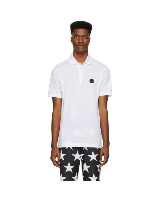 メンズ Dolce & Gabbana ホワイト ロゴ パッチ ポロ White
