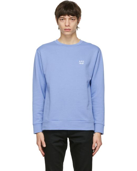 メンズ A.P.C. ブルー Mike スウェットシャツ Blue