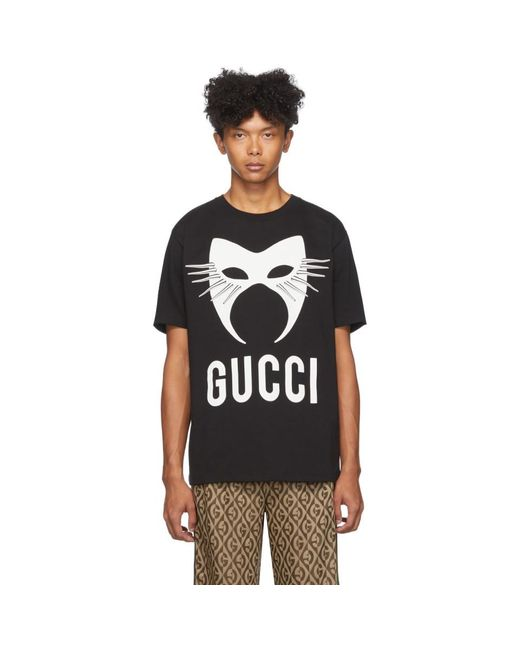 メンズ Gucci ブラック マニフェスト T シャツ Black