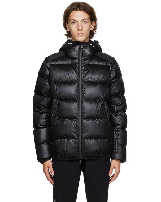 3 MONCLER GRENOBLE Black Down Hintertux Puffer Jacket for men