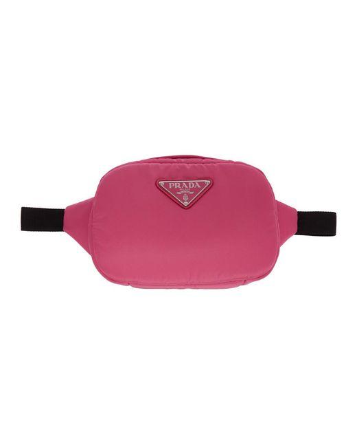 Prada ピンク ナイロン ベルト バッグ Pink