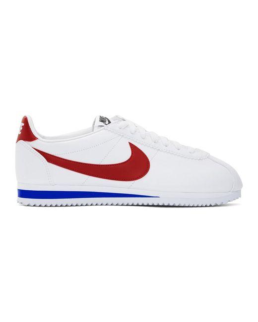Nike ホワイト And レッド クラシック コルテッツ スニーカー White