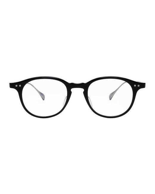 メンズ Dita Eyewear ブラック And シルバー Ash メガネ Multicolor