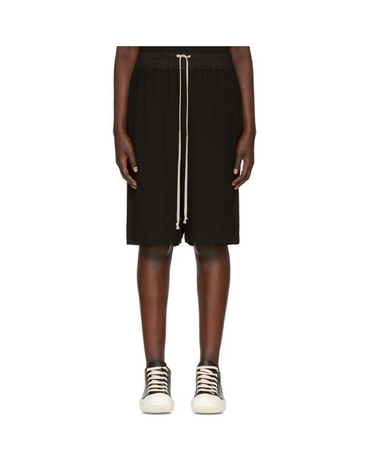 Rick Owens - Black Pods Shorts - Lyst