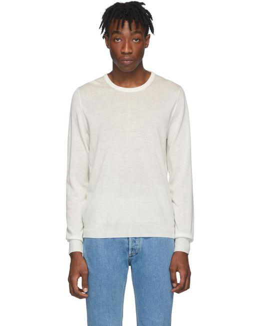 メンズ Maison Margiela ホワイト ウール セーター White