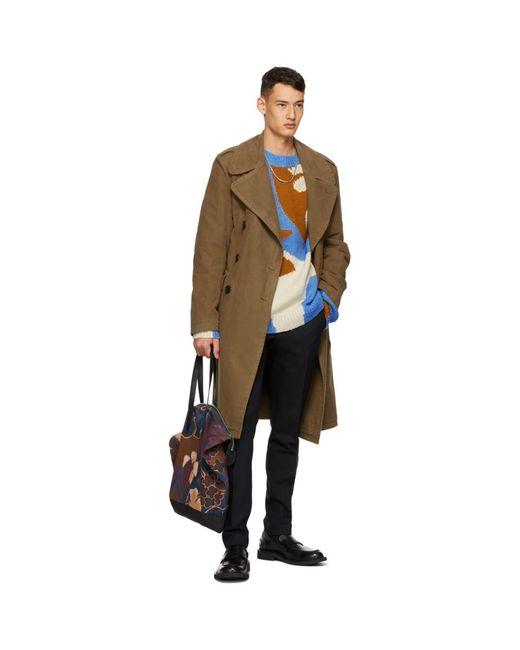 メンズ Dries Van Noten ブルー ウール セーター Natural