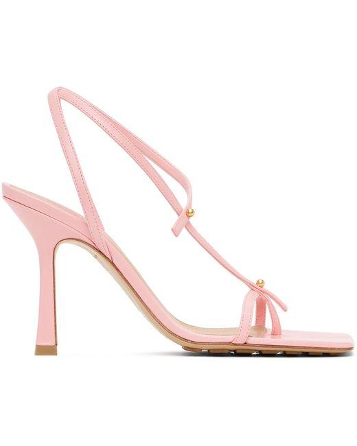 Bottega Veneta ピンク ヒール サンダル Pink