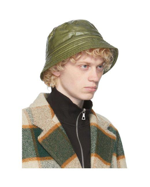 メンズ Dries Van Noten グリーン キルティング バケット ハット Green