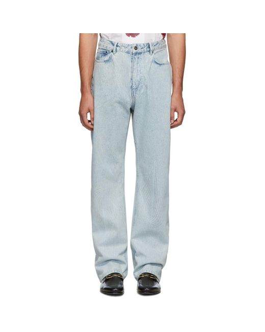 Y. Project White Small Line Jeans for men