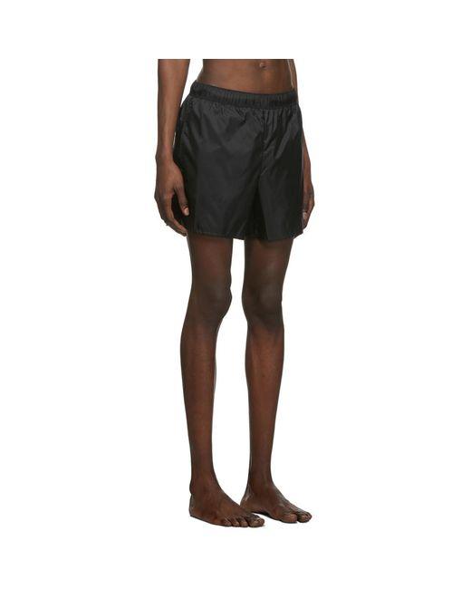 Acne Studios Men's Black Warrick Nylon Swim Short