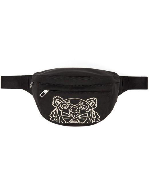 KENZO ブラック Tiger バム バッグ Black