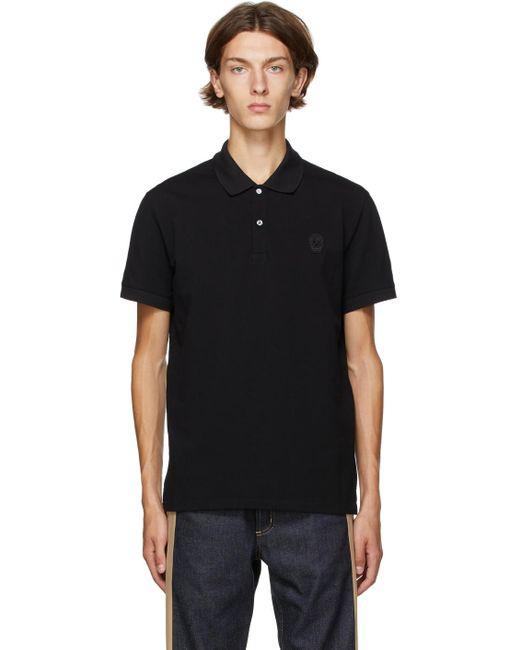 メンズ Alexander McQueen ブラック スカル ポロシャツ Black