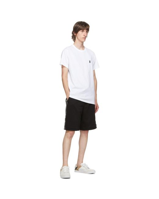 メンズ Burberry ホワイト Tb モノグラム パーカー T シャツ White
