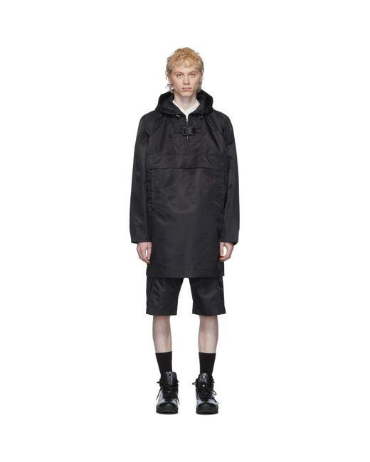 メンズ 1017 ALYX 9SM ブラック オーバーサイズ プルオーバー コート Black