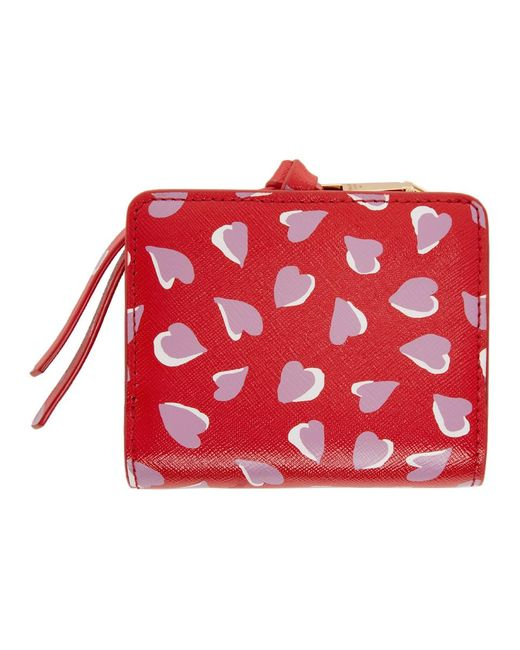 Marc Jacobs レッド ミニ Snapshot コンパクト ウォレット Red