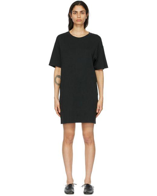 Raquel Allegra ブラック T シャツ ドレス Black