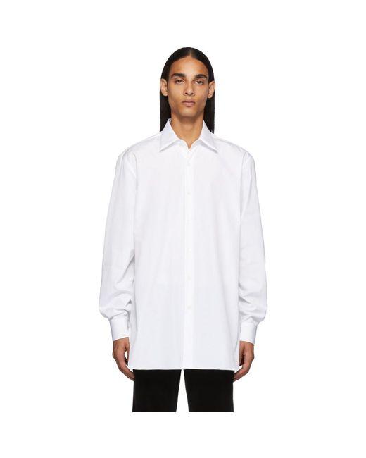 メンズ Dries Van Noten ホワイト コットン ポプリン シャツ White