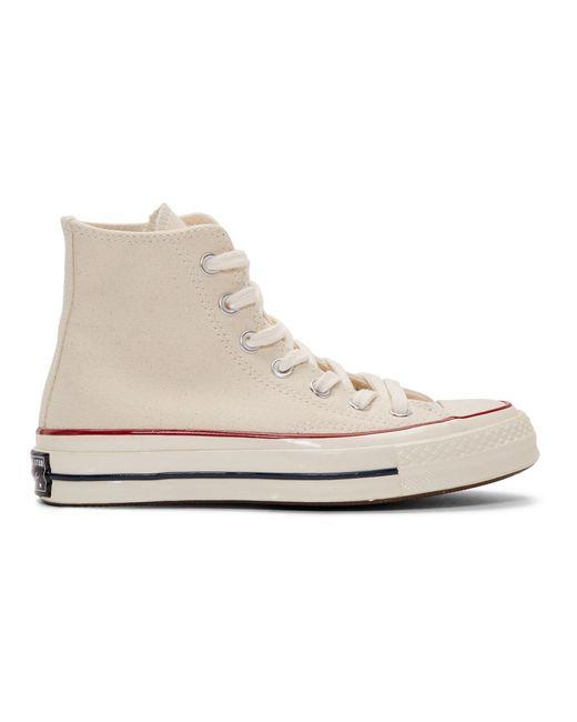 Converse オフホワイト Chuck 70 ハイトップ スニーカー White