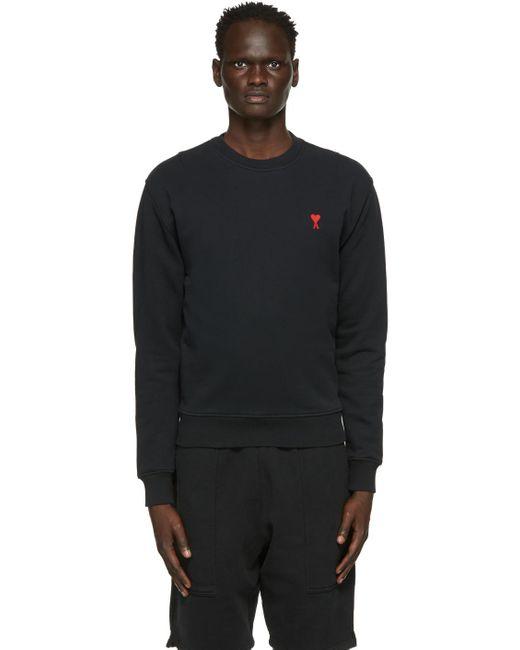 メンズ AMI ブラック Ami De Coeur スウェットシャツ Black