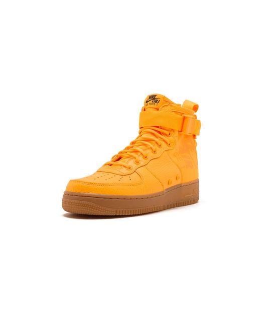 Men's Orange Sf Air Force 1 Mid 'odell Beckham Jr.' Shoes Size 9.5