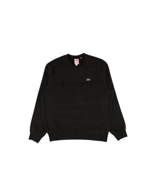 Supreme Black Lacoste Crewneck T-shirt 'ss 18' for men