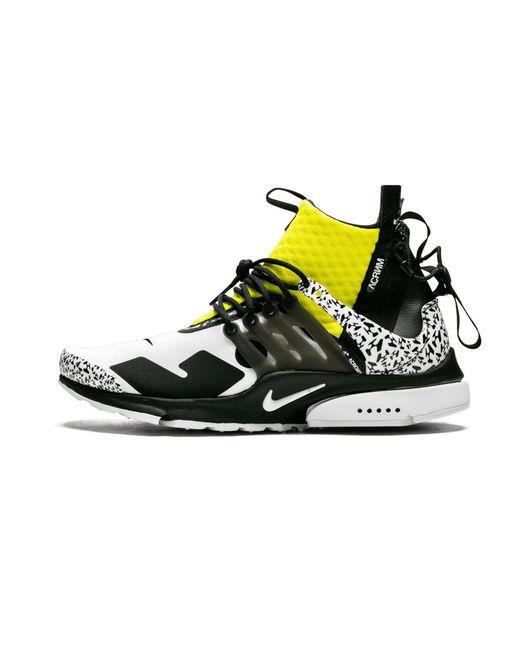 Nike Air Presto React White Yellow Olive Schuhe Kaufen