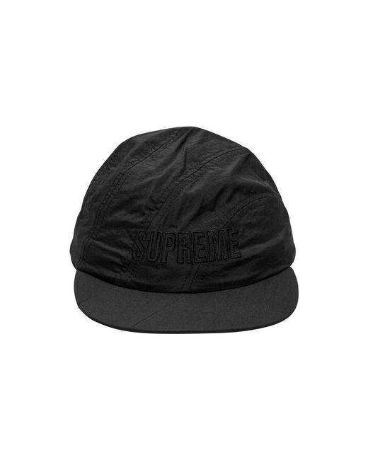 104484b8 Supreme Diagonal Stripe Nylon Hat in Black for Men - Lyst