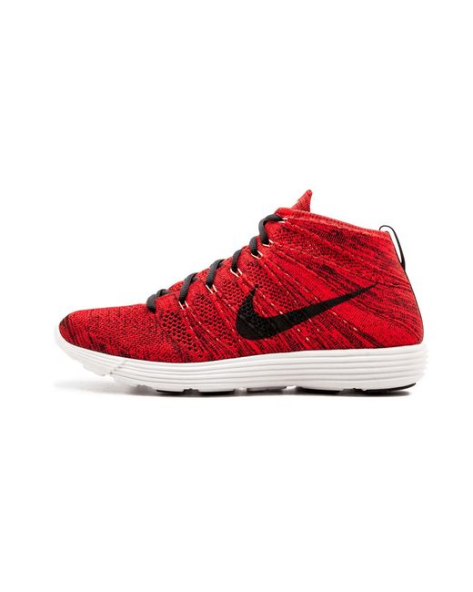 5006774a398b8 Lyst - Nike Lunar Flyknit Chukka University Red black in Red for Men