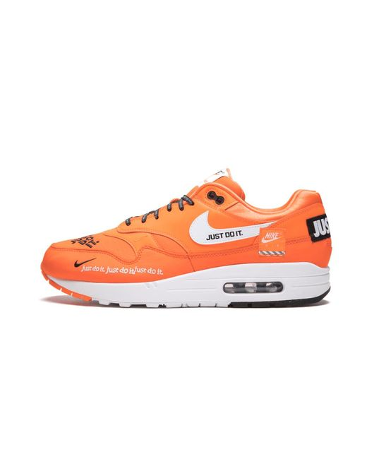 Nike Leather Air Max 1 Se Shoes Size 9 in 5.5w (Orange