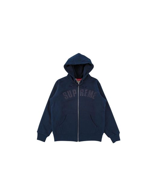 195903b4 Supreme Arc Logo Thermal Zip Up in Blue for Men - Lyst