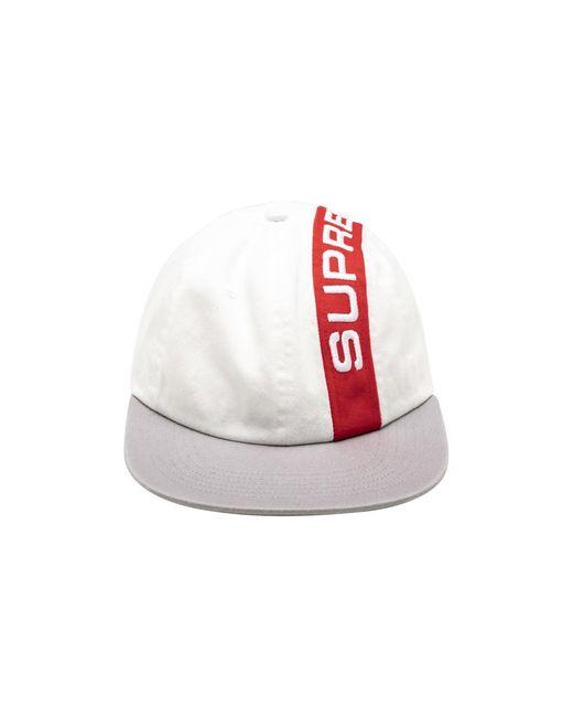 85a417e2 Supreme Stripe 6-panel Cap 'fw 18' in White for Men - Save 22% - Lyst