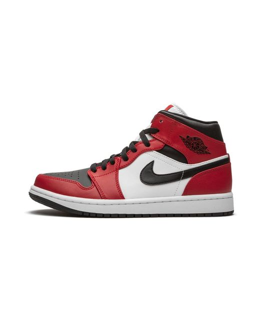 Nike Red Air 1 Mid 'chicago - Black Toe' Shoes - Size 7.5 for men