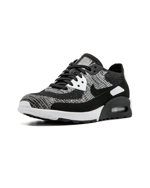 906abfa4e4387 Nike Womens Air Max 90 Ultra 2.0 Flyknit in Black - Save 9% - Lyst